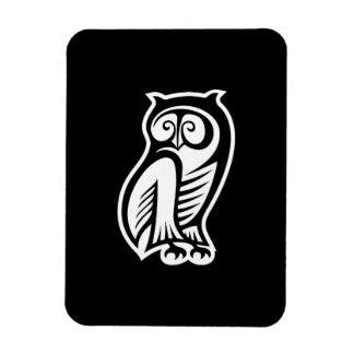 Owl Symbol White Flexible Magnets