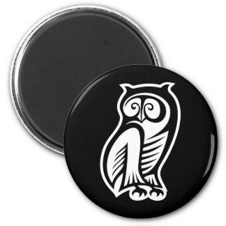 Owl Symbol White Fridge Magnets
