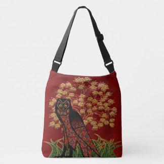 Owl Tapestry Crossbody Bag