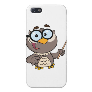 Owl Teacher Cartoon Character With A Pointer Case For iPhone 5