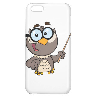 Owl Teacher Cartoon Character With A Pointer iPhone 5C Covers