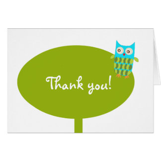 Owl Thank You Note Card