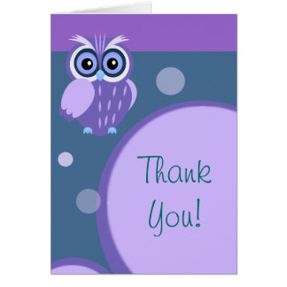 Owl~ Thank You Card