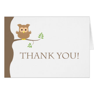 Owl Thank You Greeting Card