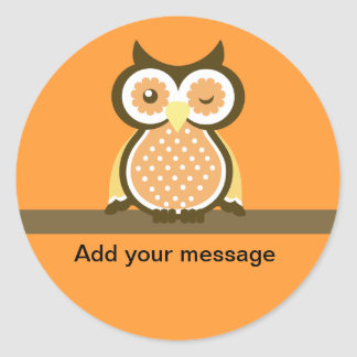 Owl Thank You Stickers