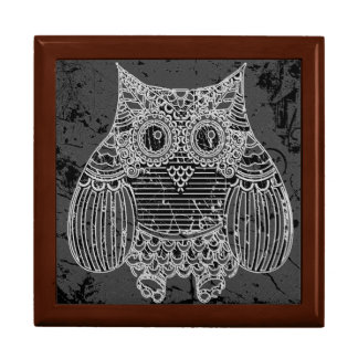 Owl Tile Gift Box, Golden Oak Gift Box