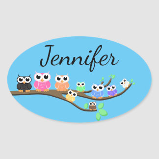 """OWL Together Now"" Oval Sticker"