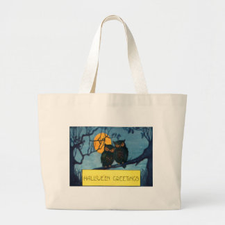 Owl Tree Night Full Moon Halloween Jumbo Tote Bag