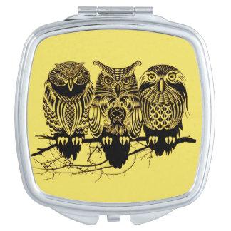 Owl Trio Compact Mirror