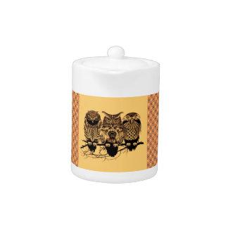 Owl Trio Teapot
