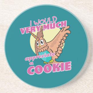 Owl Unicorn I Would Very Much Appreciate a Cookie Coaster