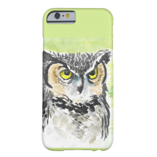 Owl Watercolor Barely There iPhone 6 Case