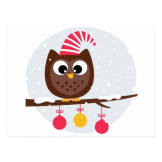 Owl Wearing Birthday Cap Postcard