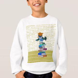 Owl Wearing Tie, Grad Cap on Top of Books, Grad