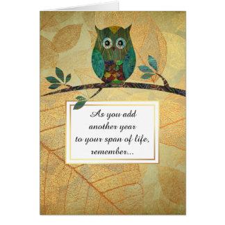 Owl Wisdom Birthday Card