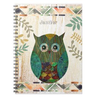 Owl Wisdom Tribal Motif Notebook