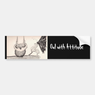 Owl With Attitude - Bumper sticker