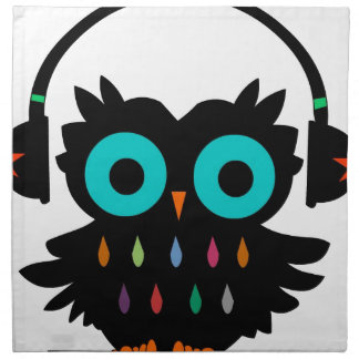 Owl with Earphones Napkin