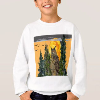 OWL WITH FULL MOON & PINE TREES SWEATSHIRT