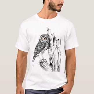 Owl With Grasshopper Shirt