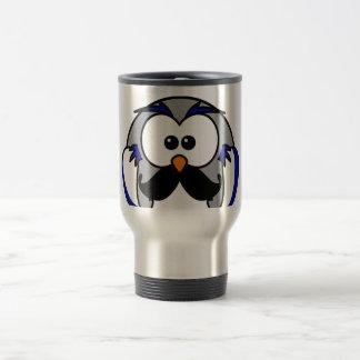 Owl with Handlebar Mustache Moustache Coffee Mugs