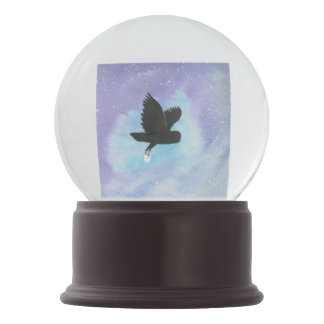 Owl With Mail Snow Globe