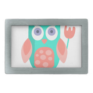 Owl With Party Attributes Girly Stylized Funky Belt Buckles