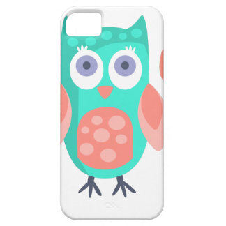 Owl With Party Attributes Girly Stylized Funky iPhone 5 Cover