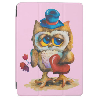 Owl with the heart Apple iPad Pro Pink