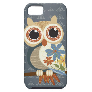 Owl with Vintage Flowers iPhone 5 Tough iPhone 5 Case