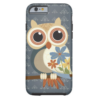 Owl with Vintage Flowers iPhone 6 case