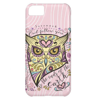 Owl Wood Grain Pattern Choose Your Color iPhone 5C Case