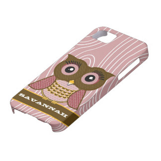 Owl Wood Grain Zig Zag Pattern Choose Your Color iPhone 5 Covers