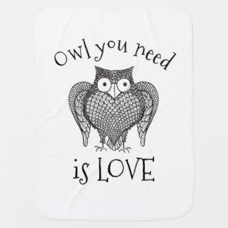 Owl you Need Baby Blanket