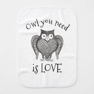 Owl you Need Burp Cloth