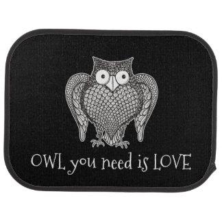 Owl you Need Car Mat