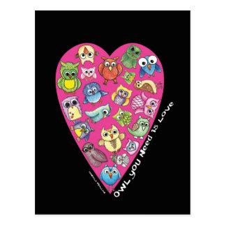 """Owl You Need is Love"" Postcard #3"