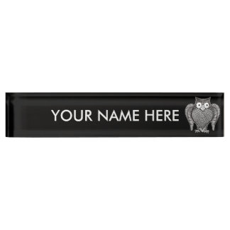 Owl you Need Name Plate