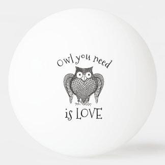 Owl you Need Ping Pong Ball