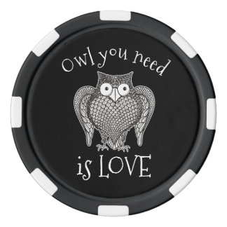 Owl you Need Poker Chips