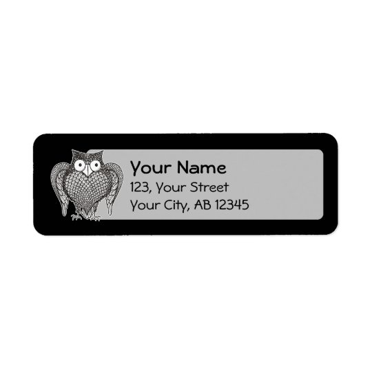 Owl you Need Return Address Label