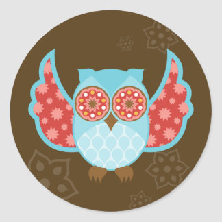 OwlBoheme Blu Stickers