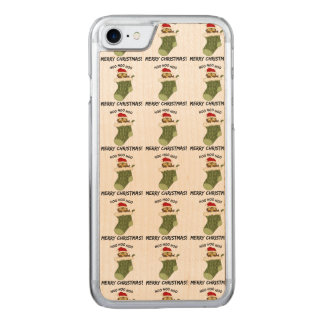 OwlHooHooChristmas Carved iPhone 7 Case