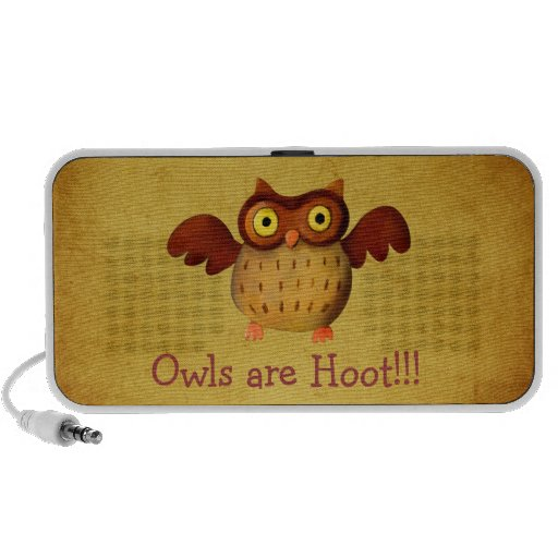 Owling is Hoot! Mp3 Speakers