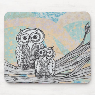 Owls 30 mouse pad
