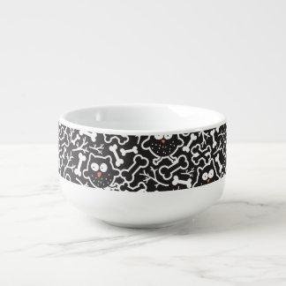 Owls and bones soup mug
