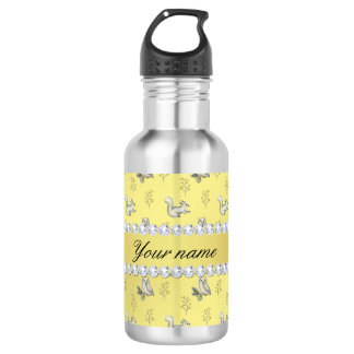 Owls and Squirrels Faux Gold Foil Bling Diamonds 532 Ml Water Bottle