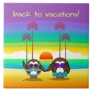 owls are back to vacations! tile