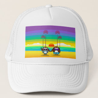 owls are back to vacations! trucker hat