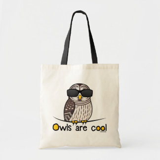 Owls are cool! budget tote bag